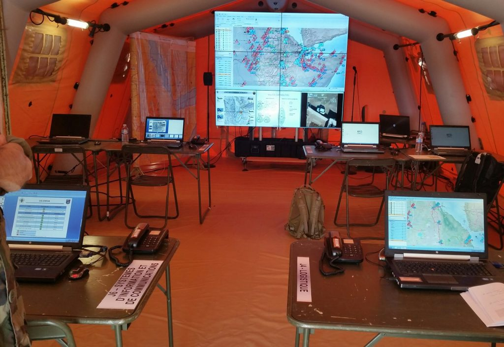 Military Deployable Command and Control Video Wall
