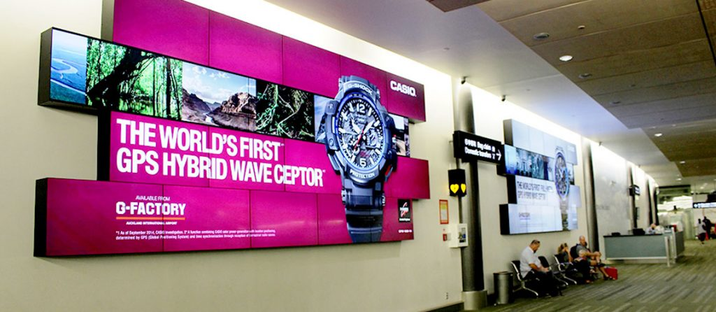 Auckland Airport Video Wall