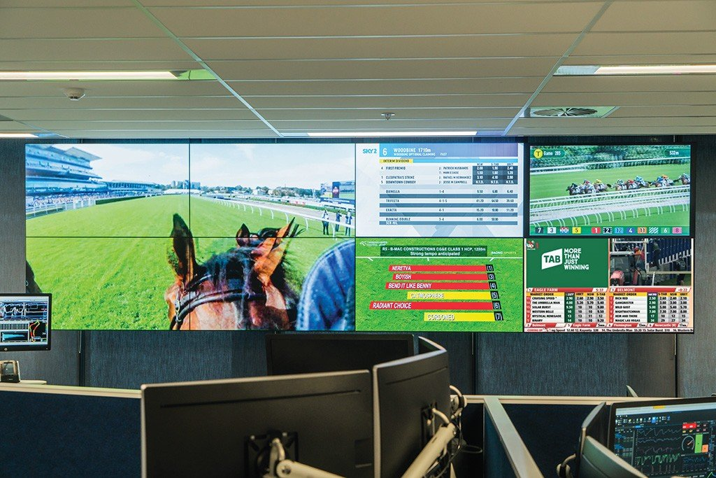 Tabcorp Melbourne Betting Office Video Wall
