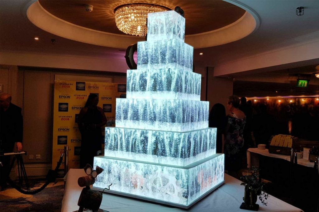 Large Projection Mapping Cake