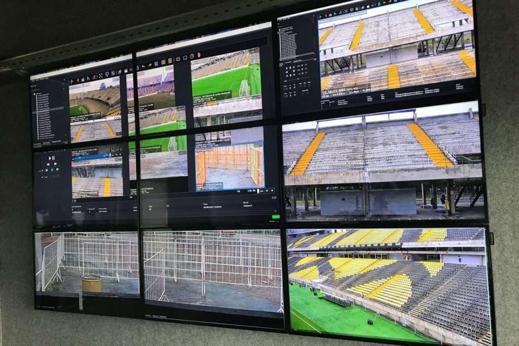Uruguay Stadium Control Room Video Wall
